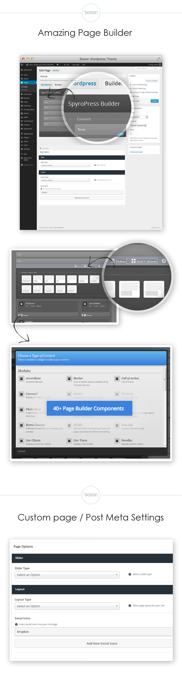 Awesome page builder options