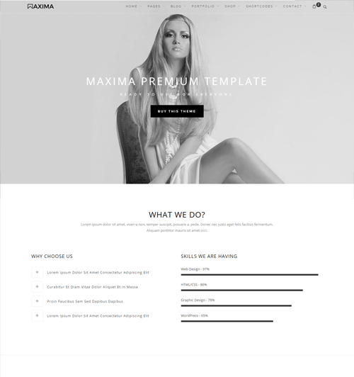 maxima free business html template