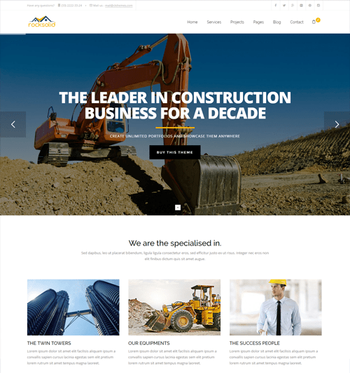 rocksolid construction template